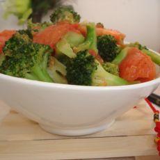 西红柿炒西兰花的做法