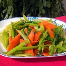 西芹炒胡萝卜的做法