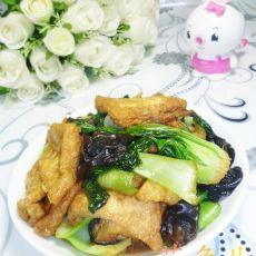 黑木耳大油方炒青菜的做法