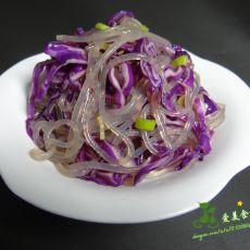 紫甘蓝拌粉条的做法
