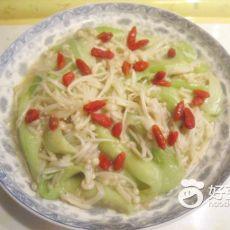 金针菇烩丝瓜