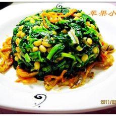 黄豆芽菠菜塔的做法