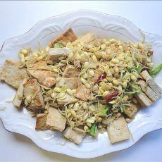 黄豆芽炒豆腐的做法