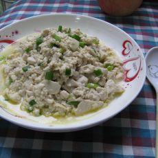 炒豆腐糜的做法
