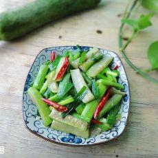 韭菜炒丝瓜的做法