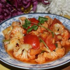 番茄花菜的做法