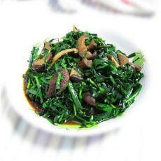 韭菜炒香菇的做法