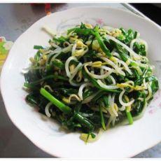 韭菜豆芽的做法