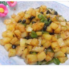 土豆丁炒豆豉