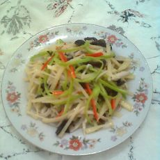 杏鲍菇炒三丝