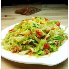 剁椒卷心菜的做法