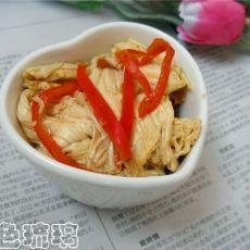 红椒拌腐竹