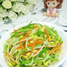 芹菜炒黄豆芽