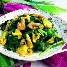 韭菜小虾炒蛋