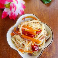 凉拌胡萝卜金针菇的做法