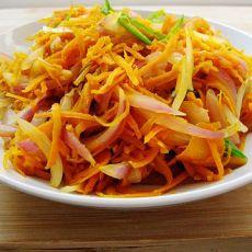 胡萝卜洋葱小炒的做法