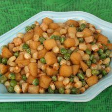 玉米炒双豆的做法