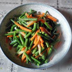 豇豆炒胡萝卜丝的做法