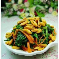 黄飞鸿花生拌菠菜的做法
