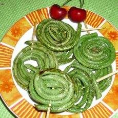 煎豆角卷——蔬菜棒棒糖