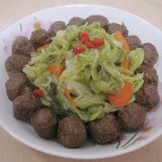 白菜素肉丸的做法