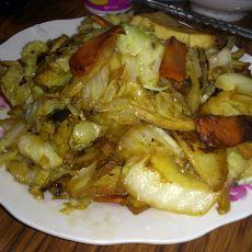 熏干炒白菜