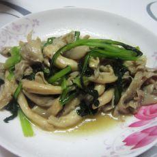 蘑菇烧小白菜