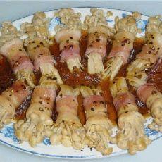 黑椒金菇烟肉卷