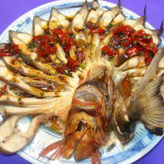 孔雀开屏鱼――下酒菜