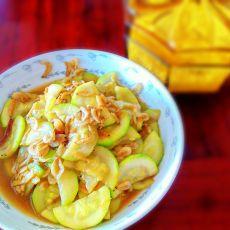 西葫芦炒虾米