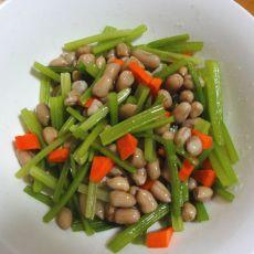 芹菜拌花生米的做法