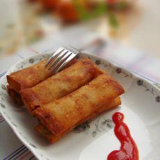 白菜香菇肉丝春卷的做法