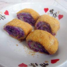 紫薯馅凉糕