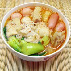 麻辣鱼丸米线的做法