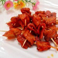 蜜汁烤鸡肉串