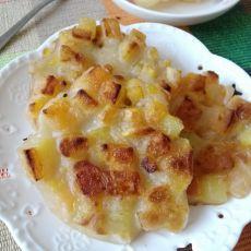 煎红薯粒饼