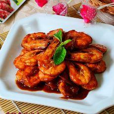 烤肉酱烩软壳虾