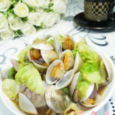 包心菜炒圆蛤的做法