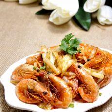 剁椒白菜北极虾