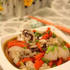 甘笋洋葱炒八爪鱼