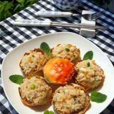 海鲜饭酿蟹壳