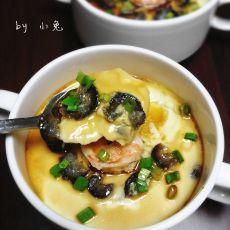 海参虾仁蒸蛋羹