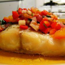 田园酱汁烤鳕鱼
