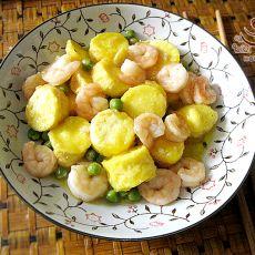 虾仁日本豆腐的做法