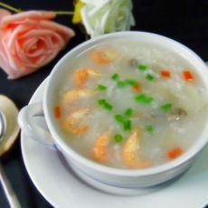 海鲜牛肉蘑菇粥