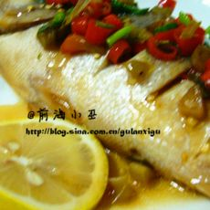 泰式柠檬清蒸鱼的做法