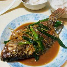 姜葱焖罗非鱼的做法