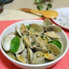 罗勒蒜头煮白蛤