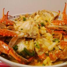 葱油梭子蟹的做法