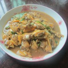 蚝油炒花甲肉